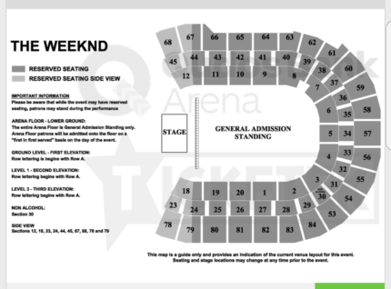 THE WEEKEND X 4 TICKETS