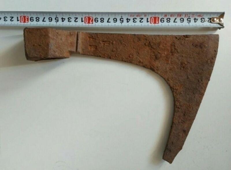Battle Axe Ancient Rare Iron Authentic Viking Kievan Rus - 30 cm - 1119 g