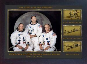 Neil Armstrong Michael Collins Buzz Aldrin signed Apollo 11 photo Autograph PR.