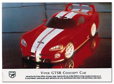 Chrysler / Dodge Viper GTSR Concept Car Press Release Photograph