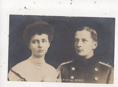 Prinz Eitel Friedrich & Braut RP Postcard Germany Royalty 040b