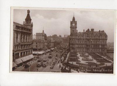 Princes Street Edinburgh East End Vintage RP Postcard 224b