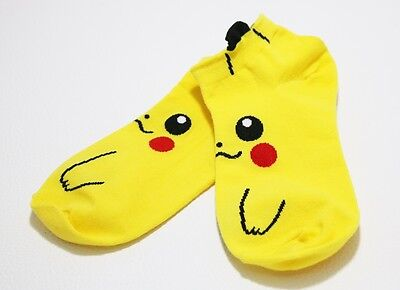 1 pairs Pikachu Sock Pocket Monster Socks for Women Men Kid Character Casual Toy