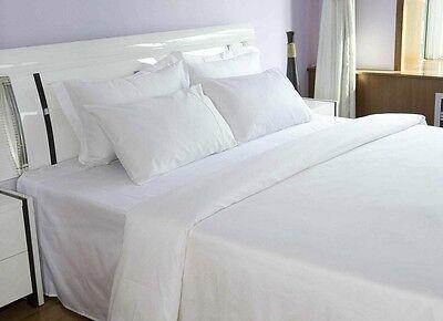 12-Pack Full XL White Flat Bed Sheets 81x115 **5 Star High Q