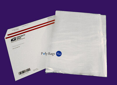 100 12x18 Clear Poly Plastic Bags Free Priority 1mil Ldpe Open Top Fda Baggie