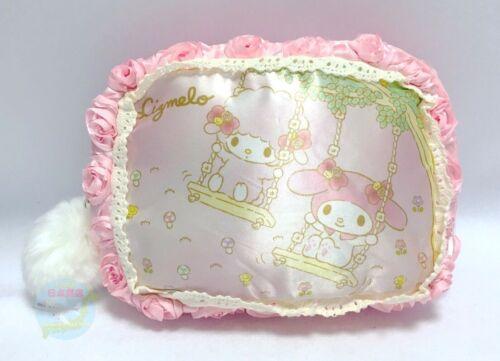 "SANRIO & LIZ LISA KAWAII My Melody ""Lizmelo"" Pouch Pink Rose Pattern Like Silk"