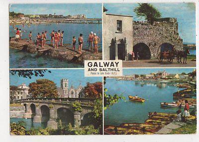 Galway & Salthill Ireland 1967 Postcard 881a