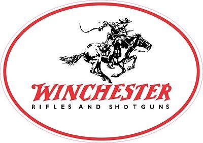 Winchester Logo Vinyl Gun Sticker Decal OVAL