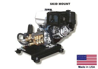 Pressure Washer Commercial - Skid Mounted - 4 Gpm - 4000 Psi - 13 Hp Honda - Gp