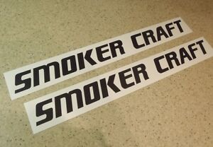 smokercraft vintage fishing boat decal black 2 pak free