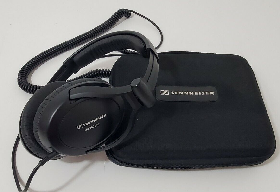 Sennheiser HD 380 Pro Monitoring Over Ear Headphones In Case Excellent Condition - $93.46