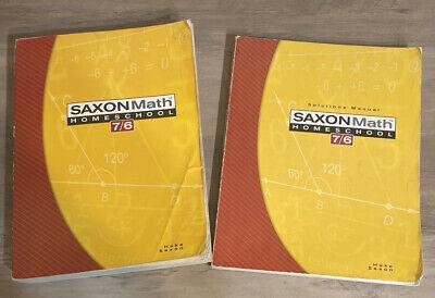 Saxon Math 7/6 Homeschool by Saxon Publishers Staff and