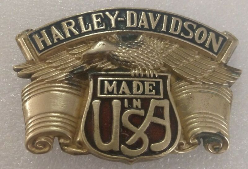 HARLEY DAVIDSON SCREAMING EAGLE MADE IN THE USA 1983 BARON BRASS BELT BUCKLE