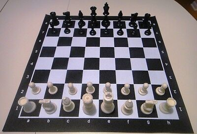 black tournament chess set 2 extra queens