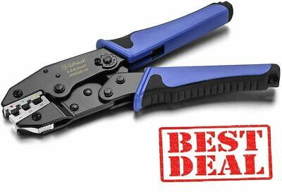 Crimping Tool Ratcheting Wire Crimper For Heat Shrink Connectors Freeship.