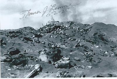 THOMAS LEMME Signed Photo WW II AUTOGRAPH COA WORLD WAR 2 IWO JIMA PACIFIC