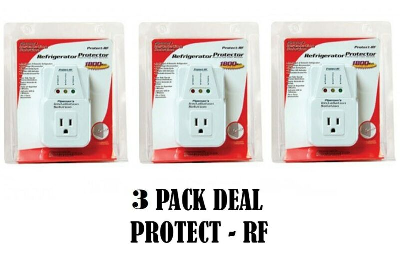 3 Pack 1800 Watts Power Surge Protector AC Voltage Brownout Refrigerator