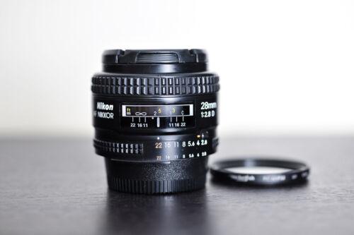 Nikon AF 28mm 2.8D Prime FX Lens w/ UV Lens Filter