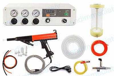 Electrostatic Pulse Powder coating machine metallic paint gun with hopper cup