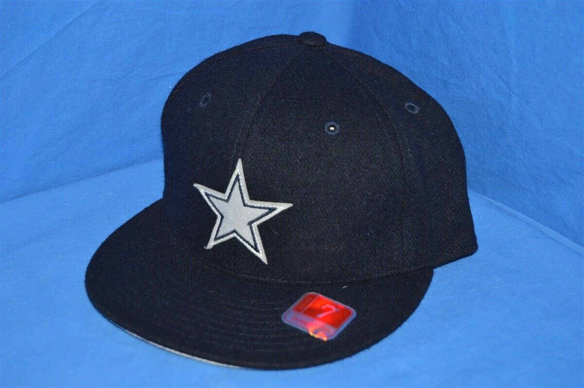 fde9728a Details about DALLAS COWBOYS NFL FOOTBALL MELTON WOOL FITTED MITCHELL & NESS  BLUE HAT 7