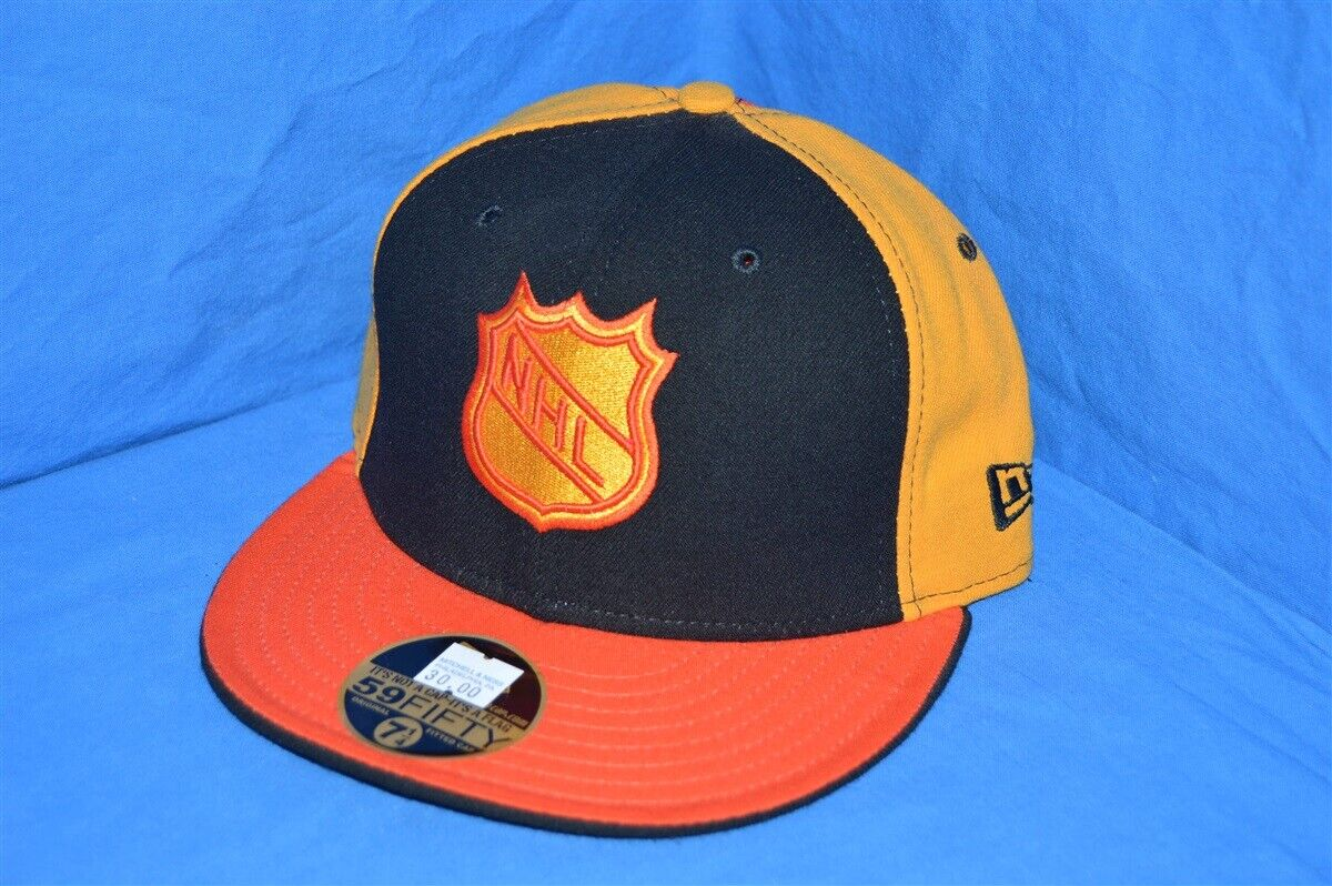 buy online 8da15 fd629 Details about NHL HOCKEY VANCOUVER CANUCKS ORANGE YELLOW BLACK NEW ERA WOOL  FITTED HAT 7 1 4