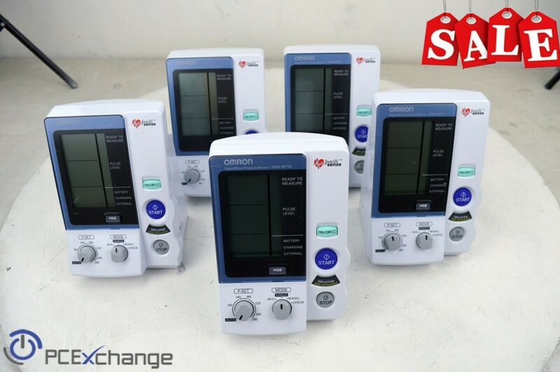 *LOT of 5* OMRON Digital Blood Pressure Monitor Model: HEM-907XL