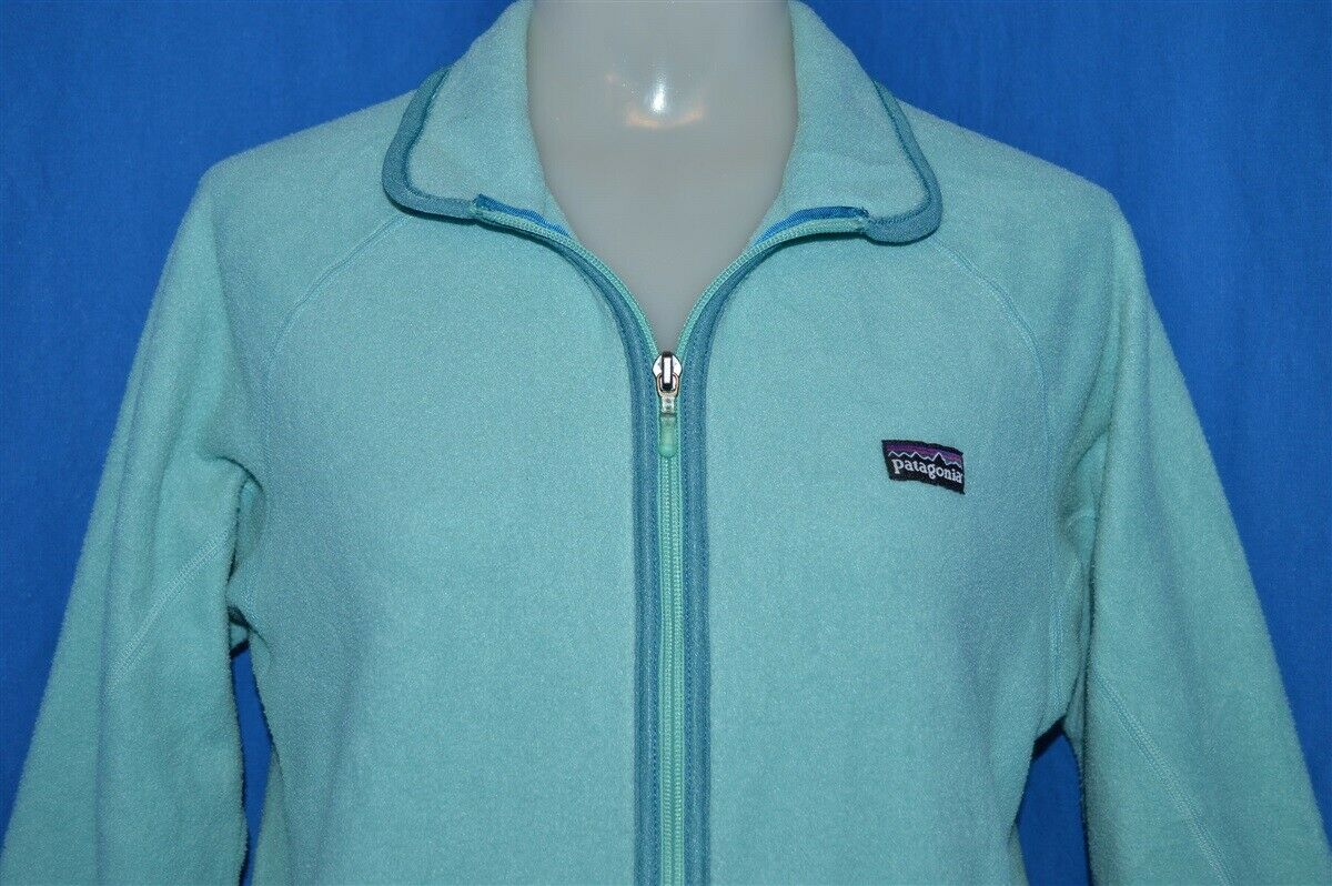 1528c69f2bb Details about KIDS PATAGONIA FLEECE PULLOVER AQUA POLYESTER USA JACKET KIDS  SZ 10
