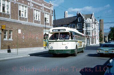 Detroit Street Railways Electric Trolley Coach #9136 Original Slide Woodward