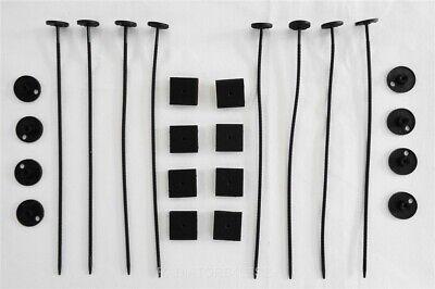 Fan Mount Kit - Plastic Universal Radiator Mount Mounting Kit Electric Fan Tie Strap - TWO KITS