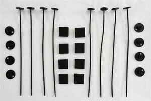 Plastic Universal Radiator Mount Mounting Kit Electric Fan Tie Strap - TWO KITS