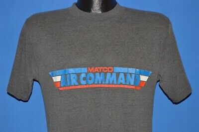 vintage 80s MATCO AIR COMMAND COMPRESSOR GRAY SOFT THIN TOOLS t-shirt MEDIUM M, used for sale  Shipping to India