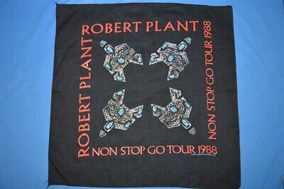 vintage 80s ROBERT PLANT BLACK LED ZEPPELIN 1988 ROCK TOUR BANDANA