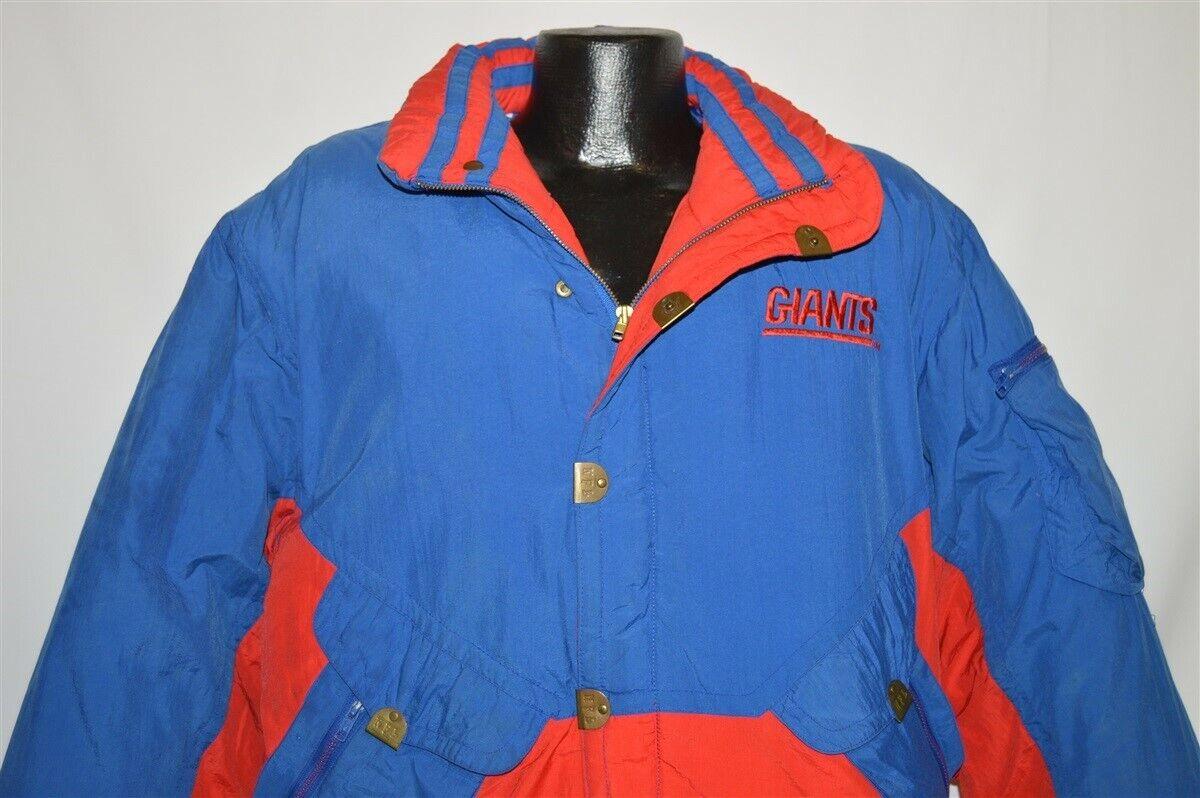899e3f8fd2d vtg 90s NEW YORK GIANTS TRIPLE FAT GOOSE DOWN NFL STADIUM COAT ...