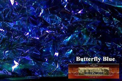 M00098 MOREZMORE Angelina Fantasy Film BUTTERFLY BLUE Heat Bondable 10' T20