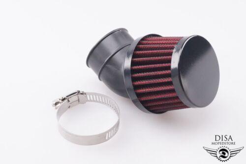 35mm 45 Grad Luftfilter Tuning Renn Sport Mofa Moped Mokick Roller NEU *