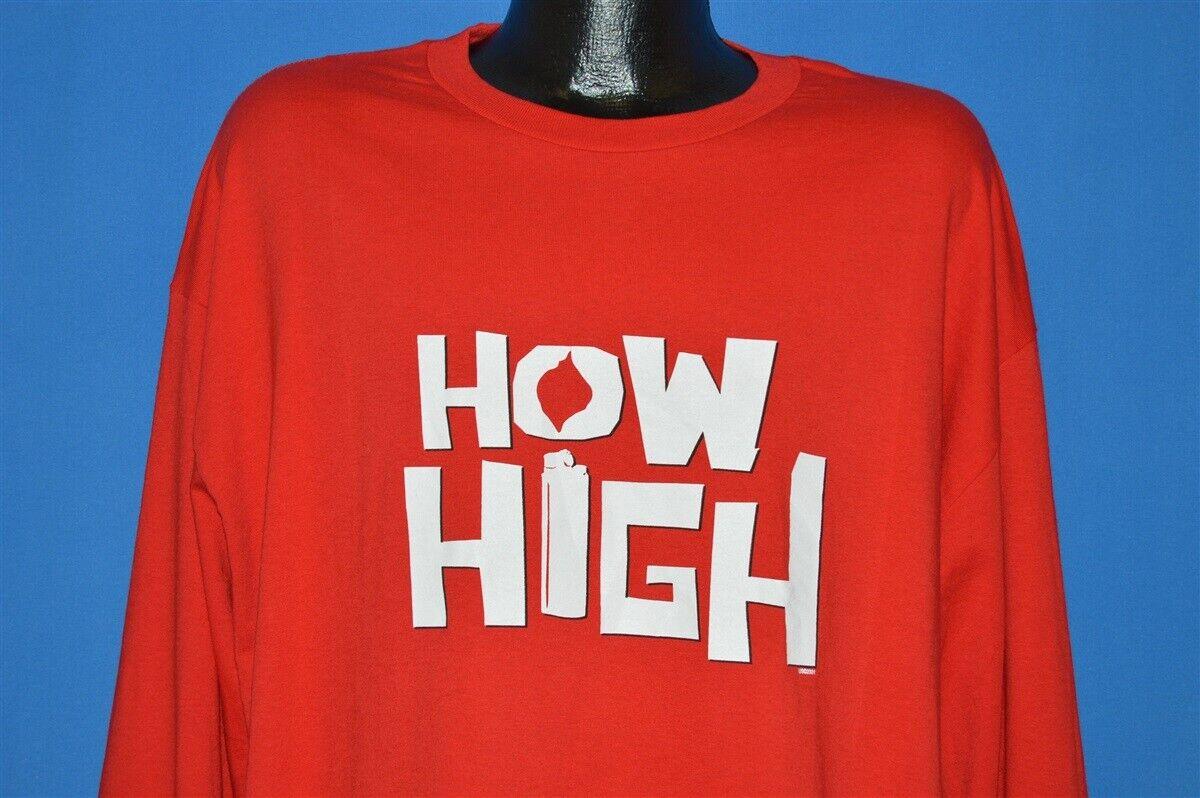 vintage HOW HIGH METHOD MAN REDMAN MOVIE HIP HOP RAP TEES LS