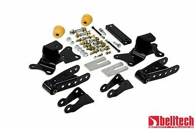 """Belltech 88-96 Silverado C2500/C3500 4"""" Rear Drop Shackles & Hangers"""