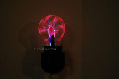 - DirectGlow Plug In Electro Plasma Night Light with Black Base