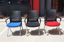 NEW High Quality Fold Up Office Chairs inc. Wheels Red/Blue/Black Wanneroo Area Preview