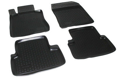 All Weather Black Floor Liners Mats 3D Design for ACURA TSX 2008 2014