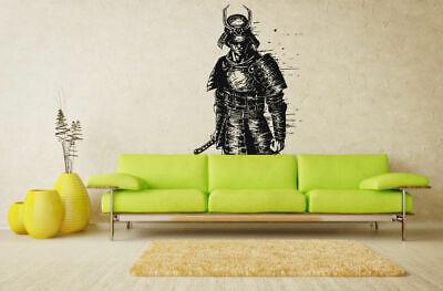 Japanese Warrior Designs ( Wall Vinyl Sticker Decals Mural Room Design Art Japanese Warrior Samurai)