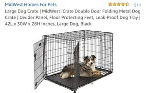 Puppy play pen and crate