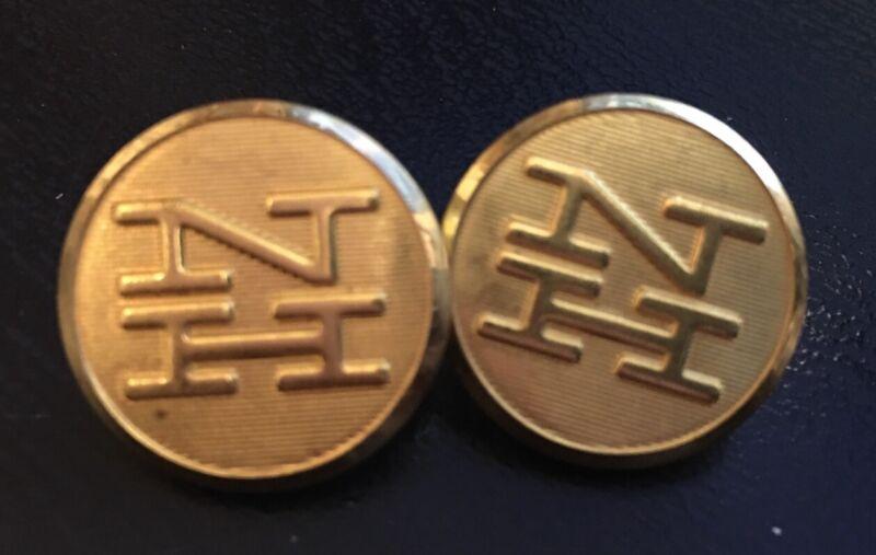 """2 NH , """" New Hampshire """" Railroad uniform button"""