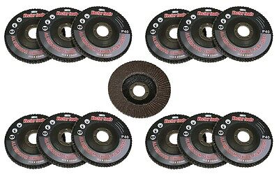 10pc 40 Grit Flap Sanding Grinding Disc 4 12 X 78 Aluminum Oxide Ao New