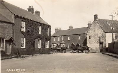 Alderton Nr Winchcombe Tewkesbury unused  RP old pc Abbey Studio