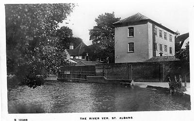 St Albans River Ver unused RP old postcard WHS Kingsway