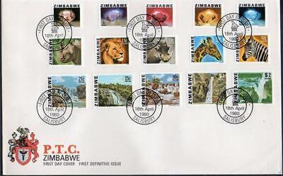 Zimbabwe 1980 Definitives FDC