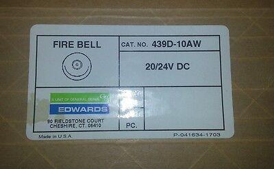 Gs Edwards Fire Bell 439d-10aw 2024 Dc New