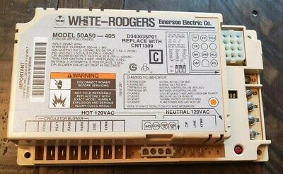 White-rodgers 50a50-405 Furnace Control Board D340035p01 Cnt1309