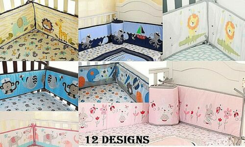 Baby Crib Bumper Safe Pads Boy Girl Choose Style Thicker Padding Many Designs